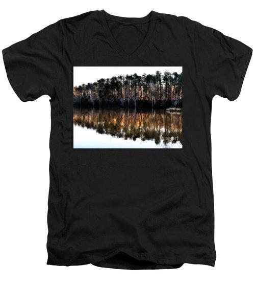 Nature's Design  Men's V-Neck T-Shirt by Christy Ricafrente