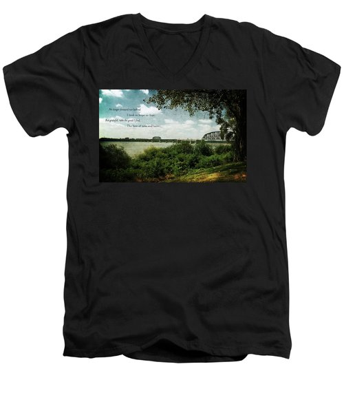 Natures Poetry Men's V-Neck T-Shirt