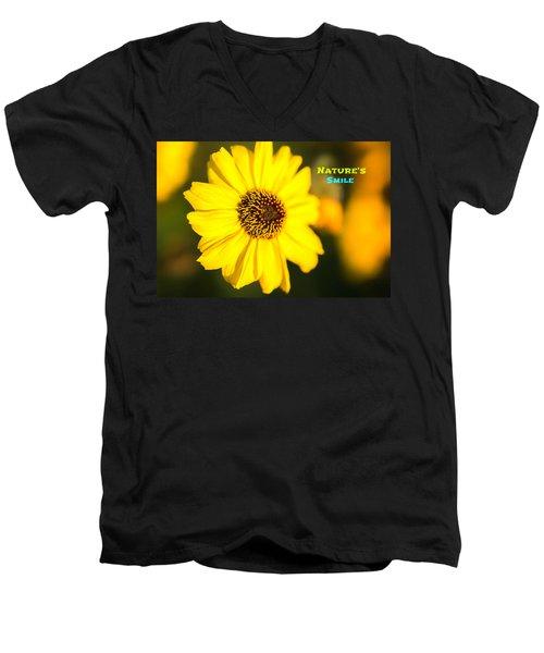 Nature's Smile  Men's V-Neck T-Shirt by Joseph S Giacalone