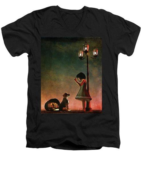 Naughty Naughty Men's V-Neck T-Shirt