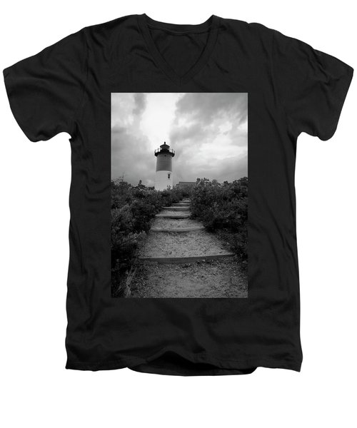 Nauset Light Men's V-Neck T-Shirt