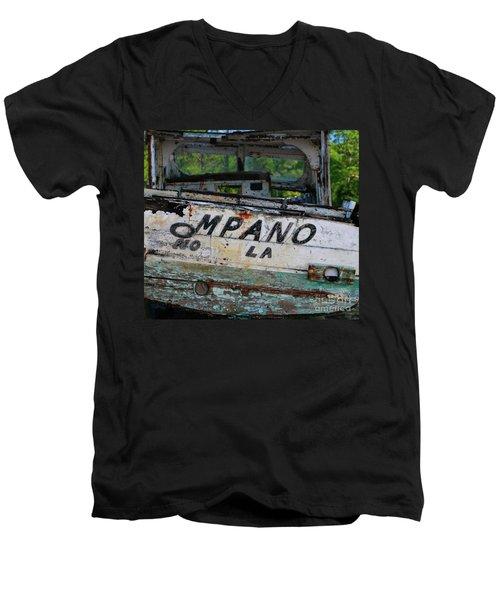 Nautical Miles Men's V-Neck T-Shirt by Lori Mellen-Pagliaro