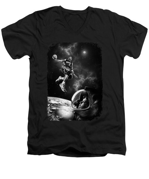 Nba Live  Men's V-Neck T-Shirt