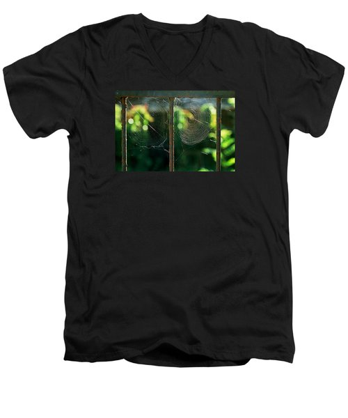 Men's V-Neck T-Shirt featuring the photograph near Giverny by Dubi Roman