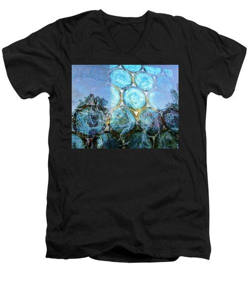 Neat In Blue Men's V-Neck T-Shirt