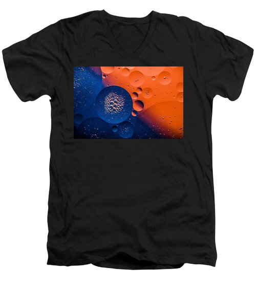 Nebula Men's V-Neck T-Shirt by Bruce Pritchett