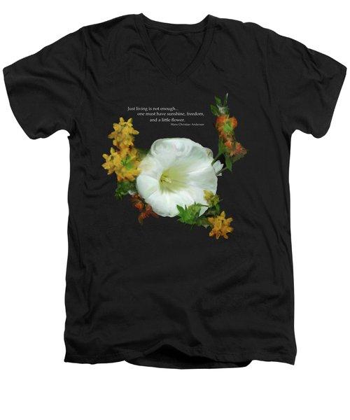 Need A Little Flower Men's V-Neck T-Shirt