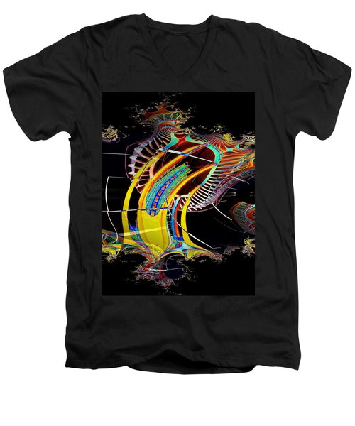 Needle In Fractal 4 Men's V-Neck T-Shirt