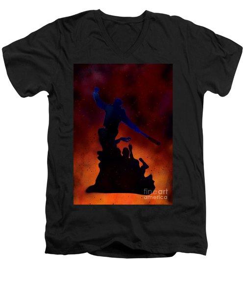 Negan Inferno Men's V-Neck T-Shirt by Justin Moore