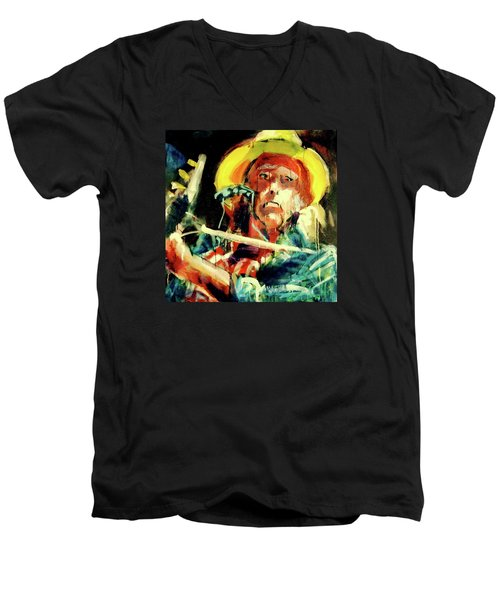 Neil Young Men's V-Neck T-Shirt