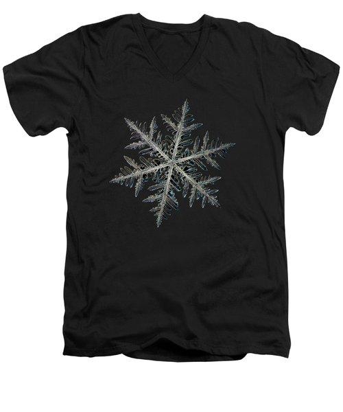 Neon, Black Version Men's V-Neck T-Shirt