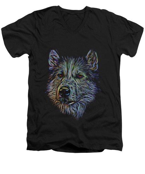 Neon Husky Men's V-Neck T-Shirt