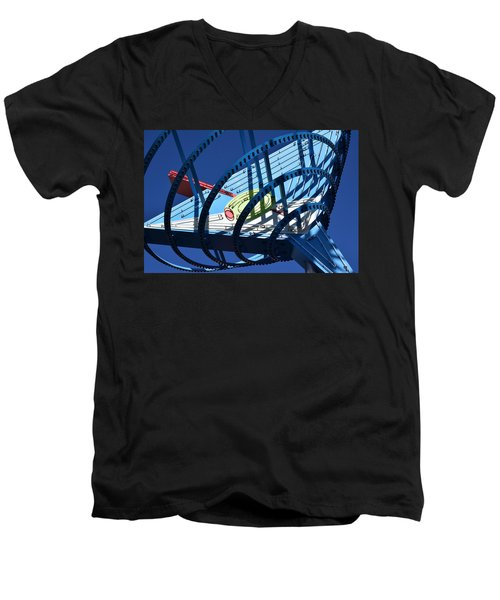Neon Martini. Men's V-Neck T-Shirt