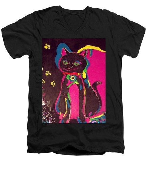 Neon Onyx Men's V-Neck T-Shirt