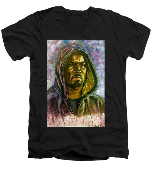 Netflix Luke Cage Men's V-Neck T-Shirt by Darryl Matthews
