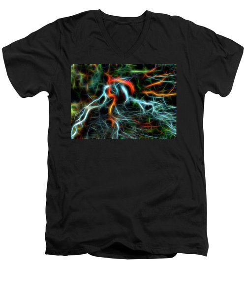 Neurons On Fire Men's V-Neck T-Shirt