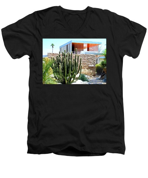 Neutra's Kaufman House 2 Men's V-Neck T-Shirt