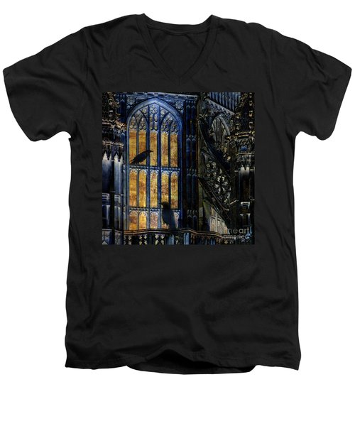 Men's V-Neck T-Shirt featuring the photograph Nevermore by LemonArt Photography