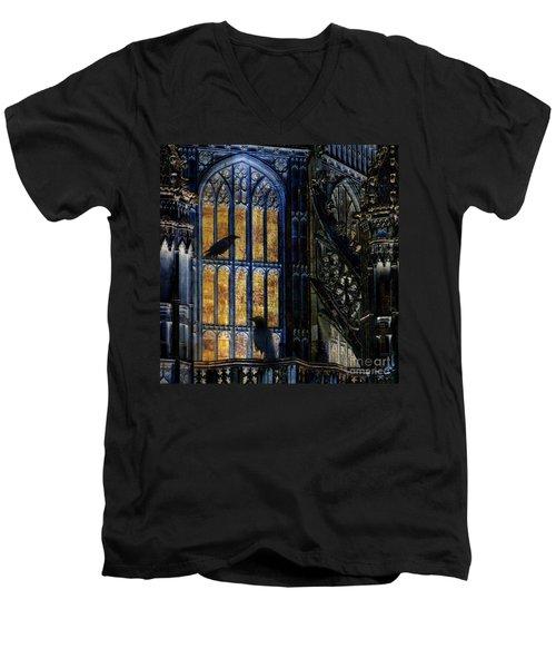 Nevermore Men's V-Neck T-Shirt by LemonArt Photography