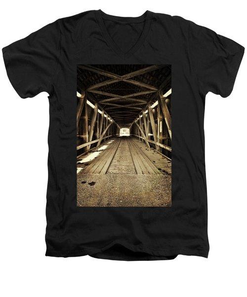 Nevins Bridge Men's V-Neck T-Shirt by Joanne Coyle