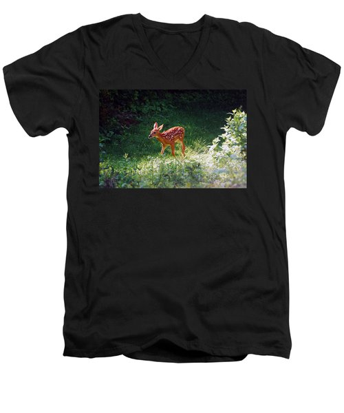 New Backyard Visitor Men's V-Neck T-Shirt