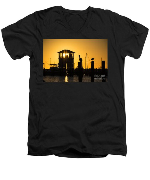 Men's V-Neck T-Shirt featuring the photograph New Day by Brian Wright