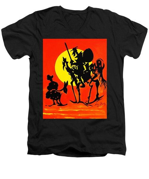 New Don Quixote Men's V-Neck T-Shirt