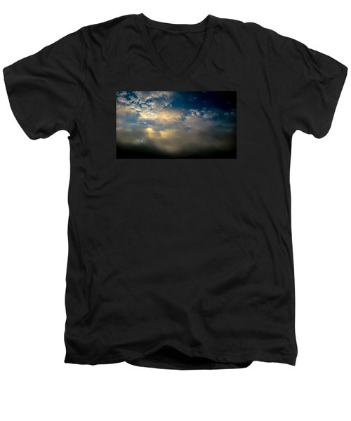 Men's V-Neck T-Shirt featuring the photograph New Every Morning by Carlee Ojeda