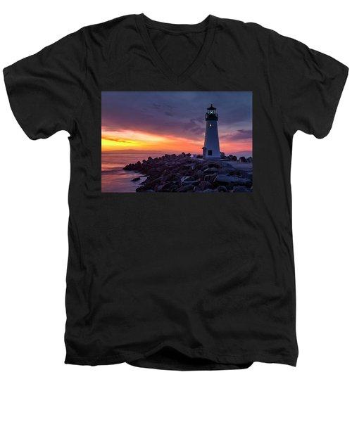 New Light Men's V-Neck T-Shirt