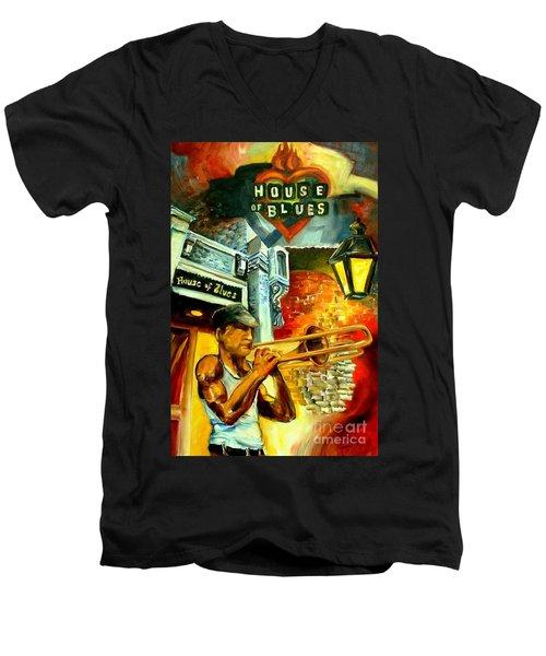 New Orleans' House Of Blues Men's V-Neck T-Shirt
