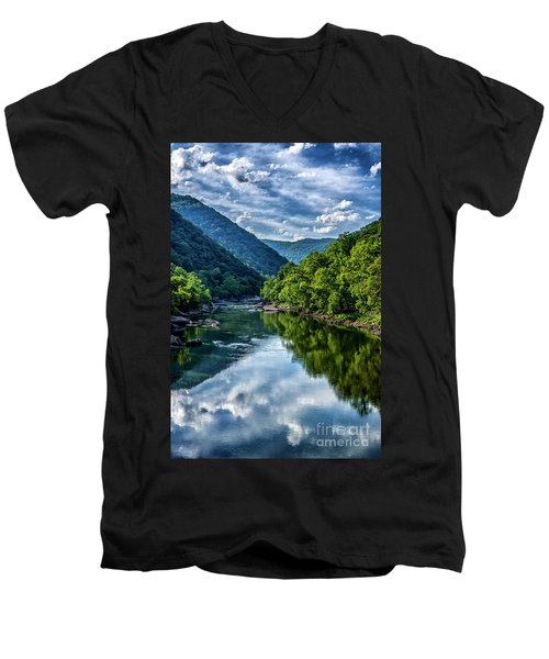 New River Gorge National River 3 Men's V-Neck T-Shirt