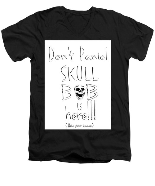 Skull Bob Men's V-Neck T-Shirt
