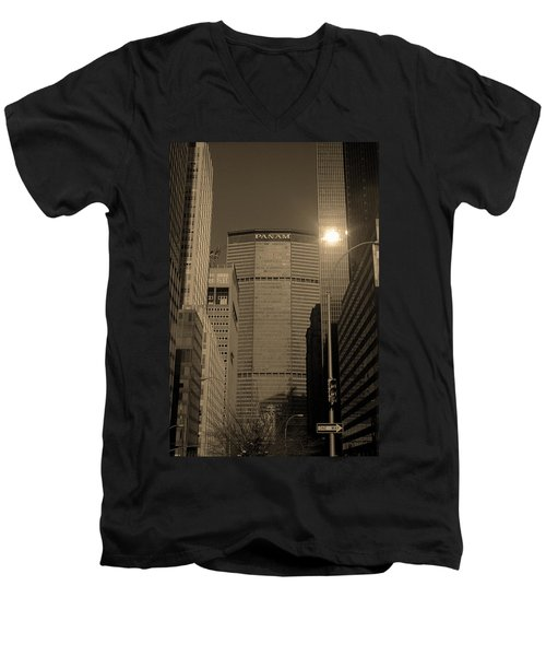 New York City 1982 Sepia Series - #7 Men's V-Neck T-Shirt