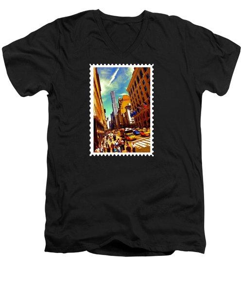New York City Hustle Men's V-Neck T-Shirt