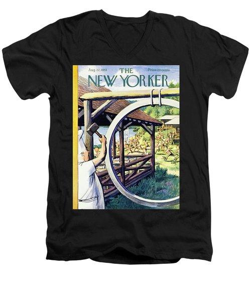 New Yorker August 22 1953 Men's V-Neck T-Shirt