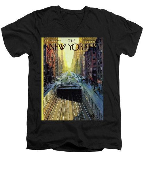 New Yorker November 12 1960 Men's V-Neck T-Shirt