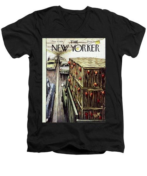 New Yorker November 17 1956 Men's V-Neck T-Shirt