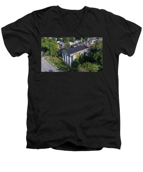 Newburghs Dutch Reformed Church Men's V-Neck T-Shirt