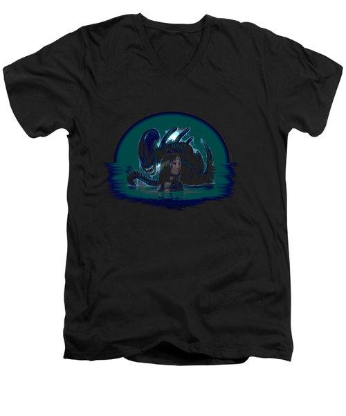 Newt In Danger Men's V-Neck T-Shirt