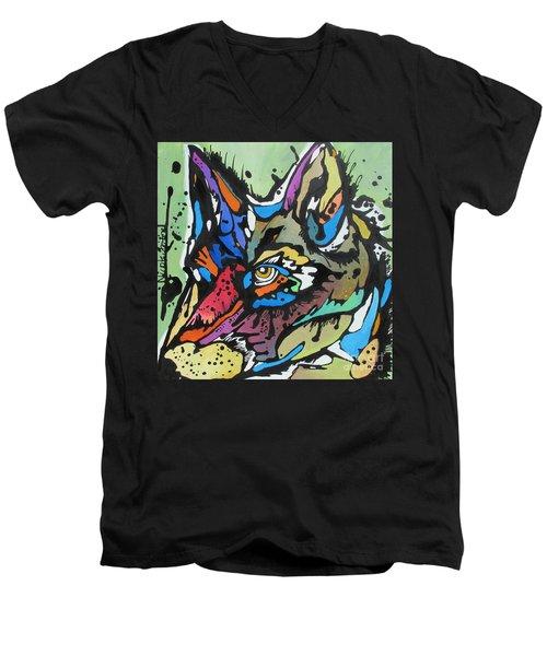 Nico The Coyote Men's V-Neck T-Shirt