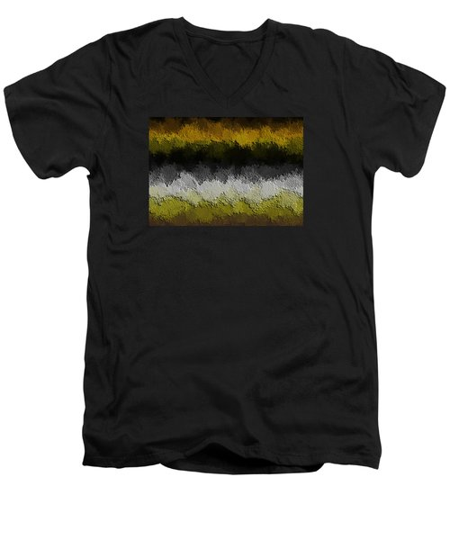 Men's V-Neck T-Shirt featuring the digital art Nidanaax-flat by Jeff Iverson