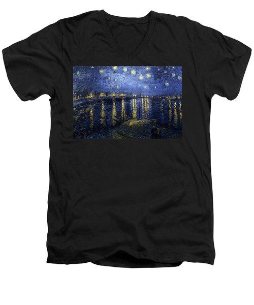 Night At The Lake Men's V-Neck T-Shirt