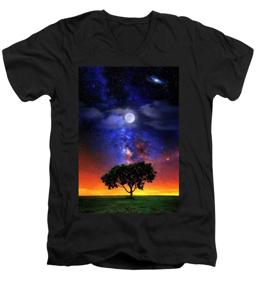Night Colors Men's V-Neck T-Shirt