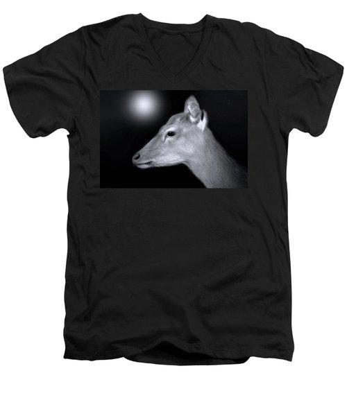 Night Doe Men's V-Neck T-Shirt by Marion Johnson