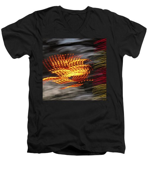 Night Glow Men's V-Neck T-Shirt