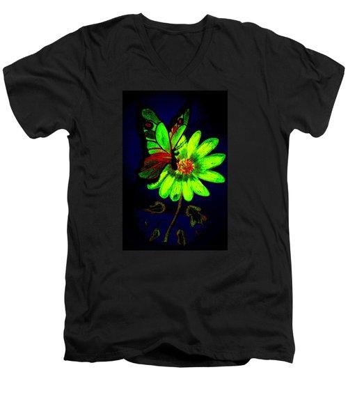 Night Glow Men's V-Neck T-Shirt by Maria Urso