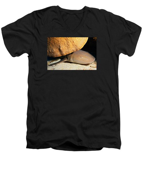 Men's V-Neck T-Shirt featuring the photograph Nocturnal Hunter by Aaron Whittemore
