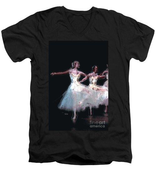 Night Of The Ballet Men's V-Neck T-Shirt