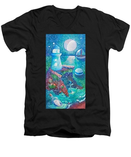 Night Out At Sea Men's V-Neck T-Shirt