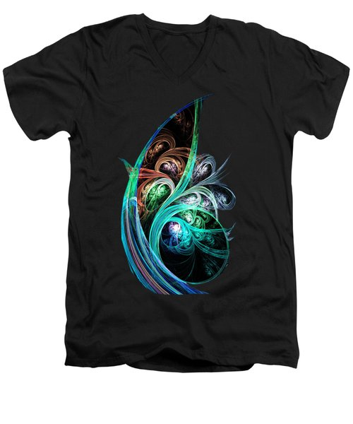 Night Phoenix Men's V-Neck T-Shirt